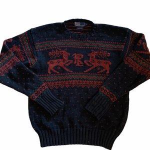 Vintage Ralph Lauren Reindeer Sweater